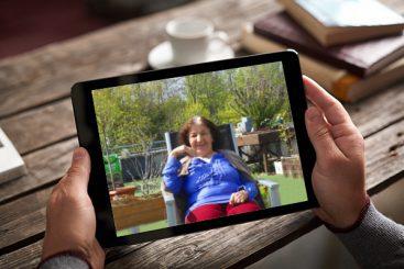 Familiengrüße via Tablet